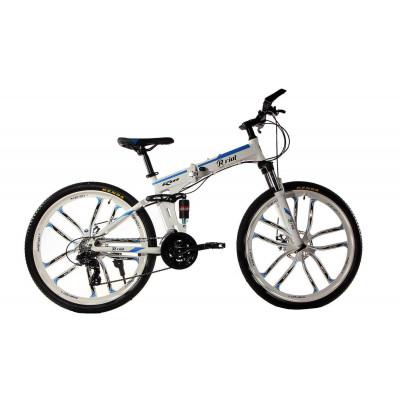 """Алюмінієвий складний велосипед Маке на литих дисках 26"""" / рама 17"""" біло-синій"""