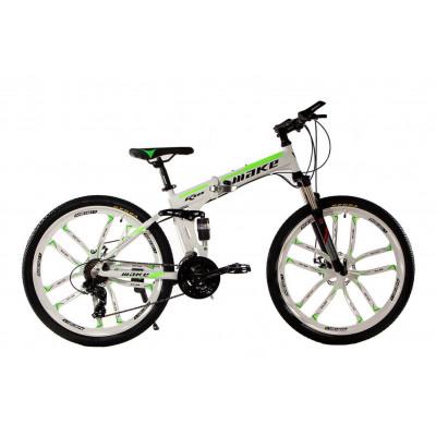 """Алюмінієвий складний велосипед Маке на литих дисках 26"""" / рама 17"""" біло-салатовий"""