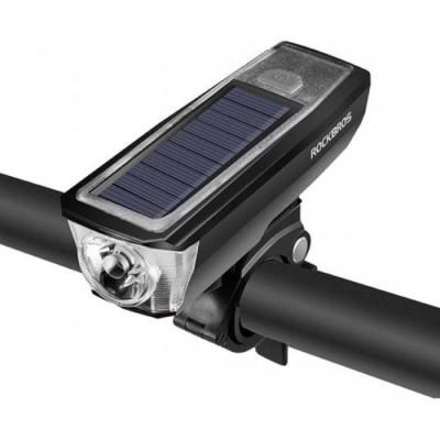 Водонепроникна LED фара RockBros HJ-052 для велосипеда з вбудованим сигналом (2000 mA*h)