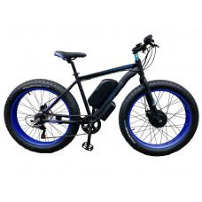 Електровелосипед передньопривідний E-motion Fatbike GT 48V 16Ah 750W Front чорно-синій