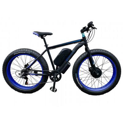 Электровелосипед передний привод E-motion Fatbike GT 48V 21Ah 750W Front чёрно-синий