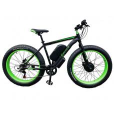 Електровелосипед передньопривідний E-motion Fatbike GT 48V 16Ah 750W Front чорно-зелений