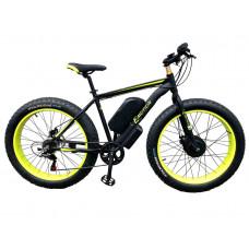 Електровелосипед передньопривідний E-motion Fatbike GT 48V 16Ah 750W Front чорно-жовтий