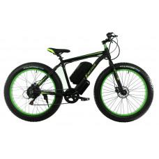 Электровелосипед E-motion Fatbike GT 48V 16Ah 1000W чёрно-зелёный