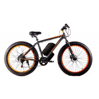 Електровелосипед E-motion Fatbike GT 48V 21Ah 1000W сіро-помаранчевий