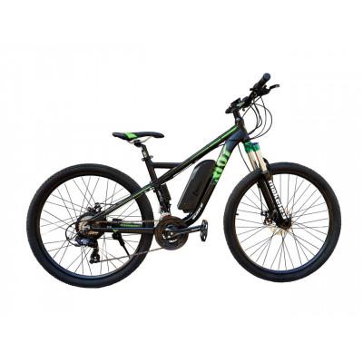 Электровелосипед RIOT 36V 12Ah 500W чёрно-зелёный