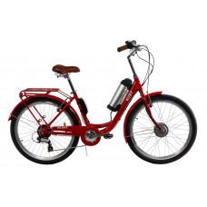Электровелосипед женский RUBY 36V 10AH 350W передний привод красный