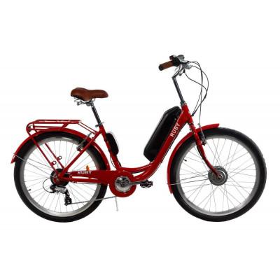 Електровелосипед жіночий RUBY 36V 14AH 350W передній привід червоний