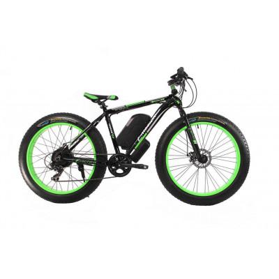 Электрофэтбайк чёрно-зелёный