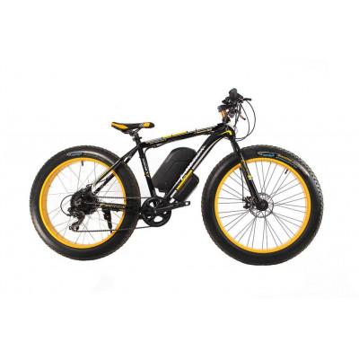 Электрофэтбайк E-motion Fatbike 48V 21Ah 1000 Вт чёрно-жёлтый