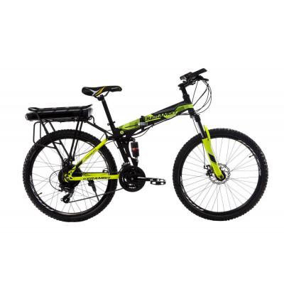 """Електровелосипед Kerambit 26"""" 17"""" 36V 12Ah 500W складаний з багажником чорно-жовтий"""