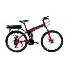 """Електровелосипед Kerambit 26"""" 17"""" 36V 12Ah 500W складаний з багажником чорно-червоний"""