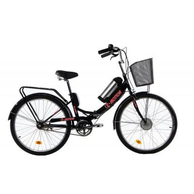 Електровелосипед E-motion складаний з низькою рамою 36V 10Ah 350W чорно-червоний