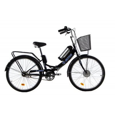 Електровелосипед E-motion складаний з низькою рамою 36V 10Ah 350W чорно-синій