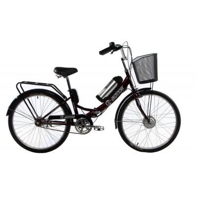 Електровелосипед E-motion складаний з низькою рамою 36V 10Ah 350W темно-червоний