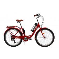 Электровелосипед женский Ruby 36V 10Ah 500W красный