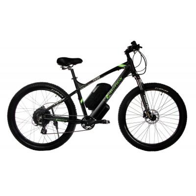 "Електровелосипед E-motion 48V 17,5Ah 700W / алюмінієва рама 19"" чорно-зелений"