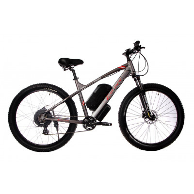 """Електровелосипед E-motion 48V 17,5Ah 700W / алюмінієва рама 19"""" сіро-червоний"""