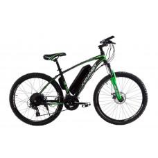 """Электровелосипед Kerambit 26"""", стальная рама 17"""", 36V 14Ah 500W чёрно-зелёный"""