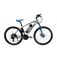 """Электровелосипед Kerambit 26"""", стальная рама 17"""", 36V 10Ah 500W бело-голубой"""