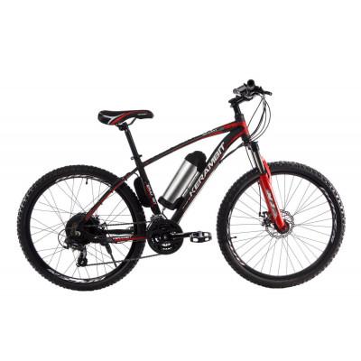 """Електровелосипед Kerambit 26"""", сталева рама 17"""", 36V 10Ah 500W чорно-червоний"""