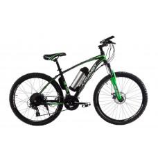 """Электровелосипед Kerambit 26"""", стальная рама 17"""", 36V 10Ah 500W чёрно-зелёный"""
