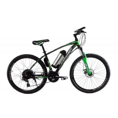 "Електровелосипед Kerambit 26"", сталева рама 17"", 36V 10Ah 500W чорно-зелений"