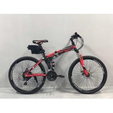 """Електровелосипед складаний Kerambit 36V 12Ah 500W 26"""" / рама сталь 17"""" чорно-червоний"""