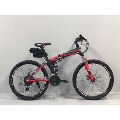 """Электровелосипед складной Kerambit 36V 12Ah 500W 26"""" / рама сталь 17"""" чёрно-красный"""
