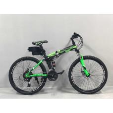 """Електровелосипед складаний Kerambit 36V 12Ah 500W 26"""" / рама сталь 17"""" чорно-зелений"""