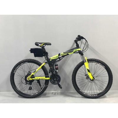 """Электровелосипед складной Kerambit 36V 12Ah 500W 26"""" / рама сталь 17"""" чёрно-желтый"""
