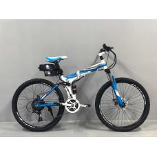 """Електровелосипед складаний Kerambit 36V 12Ah 500W 26"""" / рама сталь 17"""" біло-блакитний"""