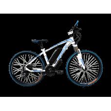 """Електровелосипед MAKE 36V 12Ah 500W рама 17""""/ 26"""" біло-синій"""