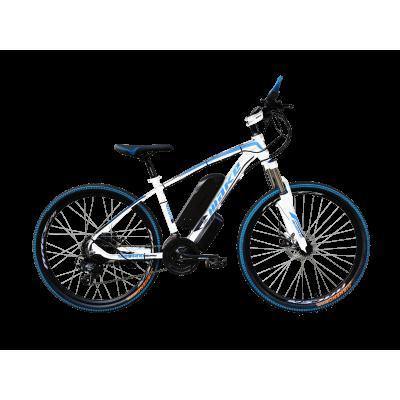 """Электровелосипед MAKE 36V 12Ah 500W рама 17""""/ 26"""" бело-синий"""