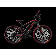 """Электровелосипед MAKE 36V 12Ah 500W рама 17""""/ 26"""" чёрно-красный"""