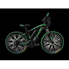 """Электровелосипед MAKE 36V 12Ah 500W рама 17""""/ 26"""" чёрно-зелёный"""