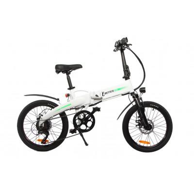 Cкладаний електровелосипед білий