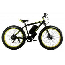 Електровелосипед E-motion Fatbike GT 48v 17,5Ah 1000W з гідравлічними гальмами чорно-жовтий