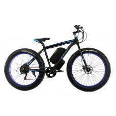 Электровелосипед E-motion Fatbike GT 48v 16Ah 1000W c гидравлическими тормозами чёрно-синий