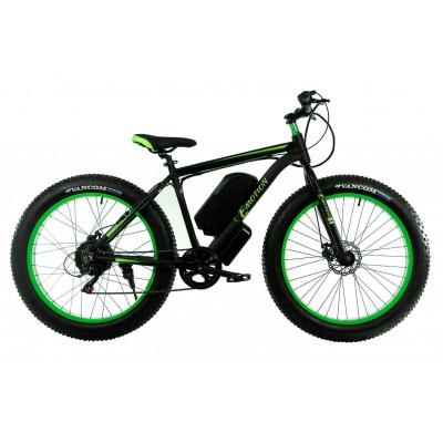 Електровелосипед E-motion Fatbike GT 48v 17,5Ah 1000W з гідравлічними гальмами чорно-зелений
