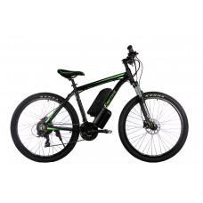 """Электровелосипед E-motion MTB 27,5 GT 36V 12Ah 500W / рама 19"""" чёрно-зелёный"""