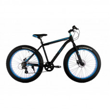 """Велосипед E-motion Fatbike GT 26 """"/ гідравлічні гальма / алюмінієва рама 19"""" чорно-синій"""