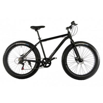 """Велосипед E-motion Fatbike GT 26 """"/ гідравлічні гальма / алюмінієва рама 19"""" чорний матовий"""