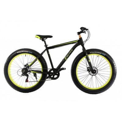 """Велосипед E-motion Fatbike GT 26"""" / гидравлические тормоза / алюминиевая рама 19"""" черно-желтый"""