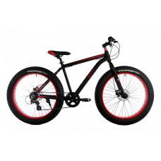 """Велосипед E-motion Fatbike GT 26"""" / рама 19"""" чёрно-красный"""