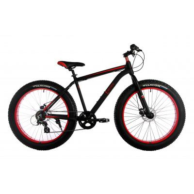 """Велосипед E-motion Fatbike GT 26"""" / рама 19"""" чорно-червоний"""