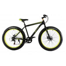 "Велосипед E-motion Fatbike GT 26"" / рама 19"" чёрно-жёлтый"