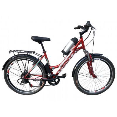 Електровелосипед з низькою рамою Formula Omega 36V 8Ah 250W червоний