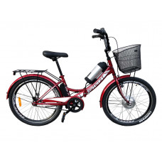 Електровелосипед складаний з низькою рамою Formula Smart 36V 8Ah 350W червоний