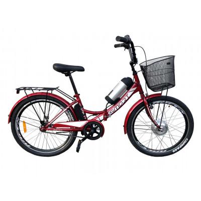 Электровелосипед складной с низкой рамой Formula Smart 36V 8Ah 350W красный